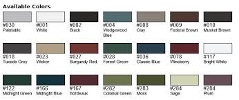 Mid America Color Chart Mid America Shutter Colors In 2019 Grey Houses Shutter