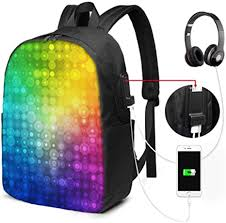 <b>Laptop</b> Backpack for Men Abstract <b>Rainbow Color</b> Your Business ...