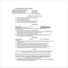 One Page Resume Template 11 Free Word Excel Pdf Format Within