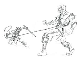 free scorpion coloring pages mortal vs in page large size of jade