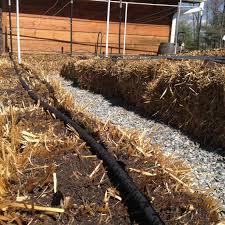 soaker hose garden irrigation system on straw bales gardensall straw bale garden