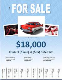 Free Car For Sale Flyer Templates Free Online Flyers Advertisement