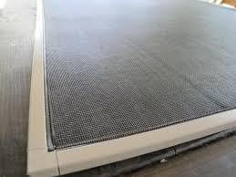 trim away extra spline and overhanging screen