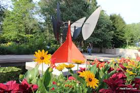 sculptures by alexander calder are on display at the denver botanic gardens through september 24