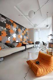 Orange And Grey Living Room Orange And Gray Bedroom Home Design Ideas