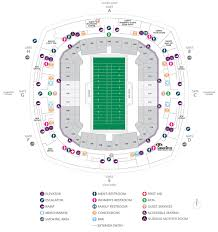 Superdome Seating Chart With Row Numbers Football Seating Charts Mercedes Benz Superdome