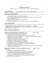 Objective On Resume For Cna Resume 100 Certified Nursing Assistant Resume Templates Certified 78
