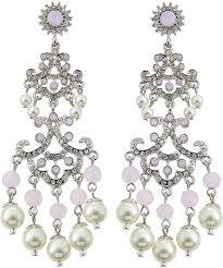 rj graziano rj graziano rhinestone chandelier earrings pinkpearl