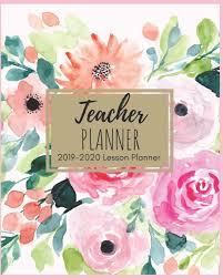 Teaching Floral Design Teacher Planner 2019 2020 Beautiful Pink Watercolor Floral