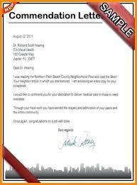 commendation letter sample letters of commendation efestudios co