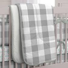 139 00 gray buffalo check crib comforter