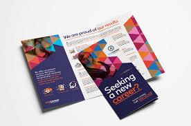 Recruitment Brochure Template Recruitment Agency Tri Fold Brochure Template In Psd Ai