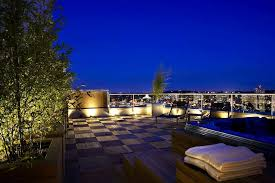 outdoor lighting decorations. Decorations:Gorgeous Rooftop Terrace Design With Outdoor Lights Also Checkerboard Deck Floor Gorgeous Lighting Decorations