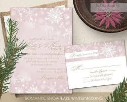 Rustic Winter Wedding Invitations Winter Wedding Invitation Set Rustic Winter Wonderland Romantic