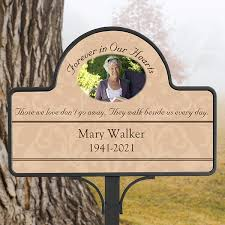 personalized memorial garden stake