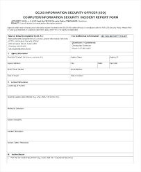 Security Incident Report Sample Security Incident Report