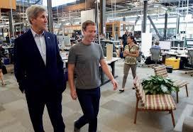 facebook menlo park office. CEO Mark Zuckerberg, Right, Showing Off The New Menlo Park HQ To US Secretary Facebook Office H