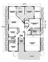 Spanish revival  House plans and Spanish on Pinterestsmall santa fe style house plans   Santa Fe Spanish Ranch Home Plan D