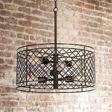lampsplus franklin iron works metal lattice pendant light