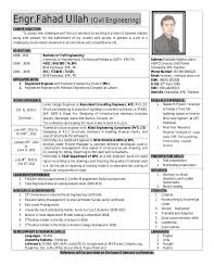 Engr.Fahad Ullah CAREER OBJECTIVE: (Civil Engineering) To accept new  challenges and