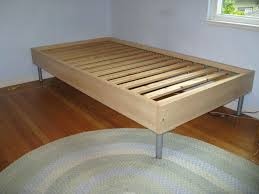 simple bed plans. Diy Twin Bed Frame Easy Simple Plans  Home Design