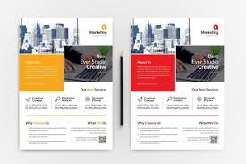 Marketing Flyers Templates Marketing A4 Psd Flyer Templates 002994 Template Catalog