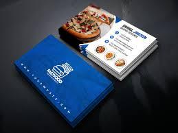 Fast Food Business Card Design Psd Fast Food Restaurant Business Card Design On Behance