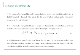 18 remarks about viscosity