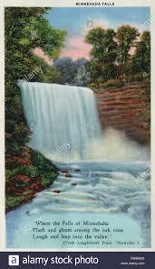 Minnehaha Falls Minneapolis Minnesota Usa With A