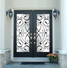 french door glass replacement inserts decoration inspiring black double entry doors with wrought iron glass inserts and white crown molding also oil rubbed