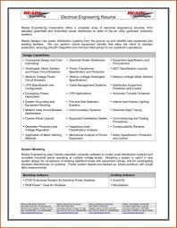 Engineer Resume Format Best Resume Format For Electrical Engineers