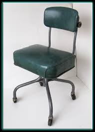vintage industrial metal office chair metal. Vintage 40s 50s Steel Case Industrial Metal Office Chair Turquoise Seat A