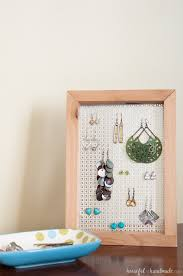 need a way to display your earrings this easy diy earring stand is a simple
