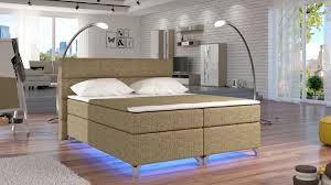 Boxspringbett Augsburg Mit Led Beleuchtung Möbel Schlafzimmer