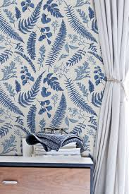 blue ferns removable wallpaper temporary self adhesive nursery white