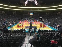 Spectrum Center Section 109 Charlotte Hornets
