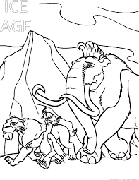 Small Picture Ice age Coloring Pages