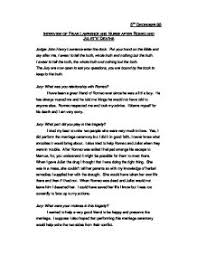 interview of friar lawrence and nurse after romeo and juliet s page 1
