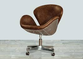 brown leather office chair canada no arms