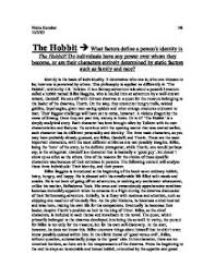 what factors define a person s identity in the hobbit do  page 1 zoom in