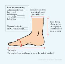 Sock Knitting Foot Size Chart Learn To Knit Socks Live Video Tutorial Series Meanwhile
