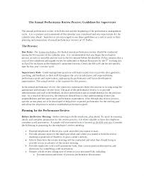 Annual Performance Review Samples Good Self Appraisal