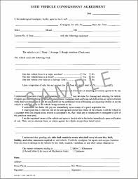 consignment form for cars 13 best vehicle consignment agreement n97700 cu tricities