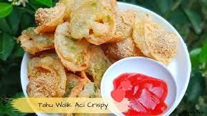 1 batang daun bawang, iris tipis; Resep Tahu Walik Aci Crispy Youtube