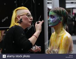 london uk 21st may 2017 imats london second day in london make up artist magazine and olympia london sing the second day of the international artist