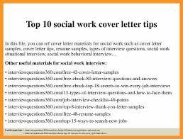 Social Work Internship Cover Letter Bio Letter Format