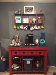 home coffee bar furniture. kitchen coffee bar jean anne at home red furniture redo diy with industrial shelf t