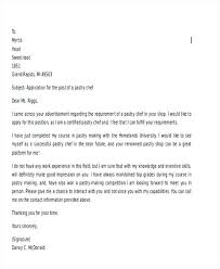 Pastry Chef Cover Letters Cover Letter For Chef Cover Letter For Culinary Job Cover Letter For