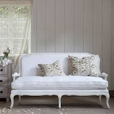 shabby chic couture furniture. Lila Settee, White Linen - Traditional Sofas By Shabby Chic Couture Furniture A