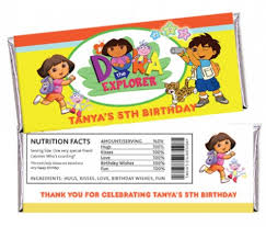 personalized chocolate bar wrappers dora explorer go diego custom personalized candy bar wrappers
